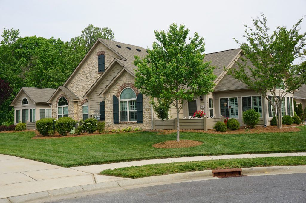 Active Adult 55+ Communities In Matthews NC. Typical Attached Patio Homes  ...