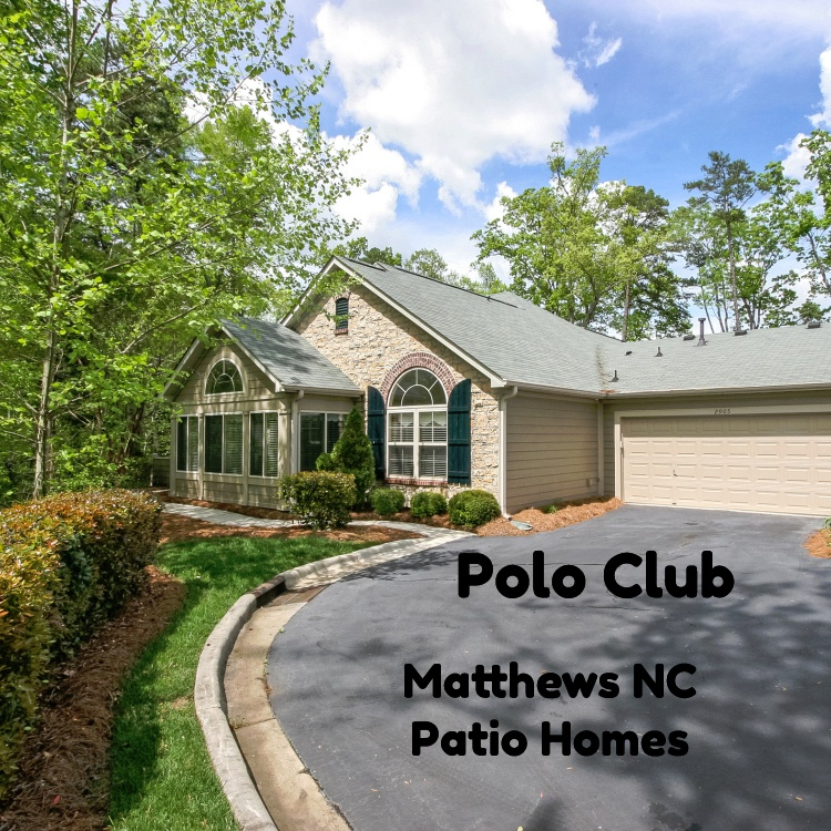 Polo Club Patio Homes In Matthews Nc For Sale
